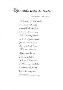"""Poema """"Un Castillo Hecho de Dientes"""""""